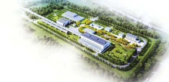 高速飞车大同(阳高)试验线工程基地鸟瞰效果图。图片来源:黄河新闻网