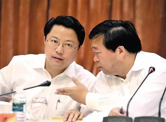 △杨卫泽(左)和季建业(右)