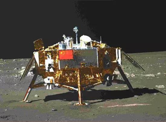 ▲嫦娥三号月球探测器