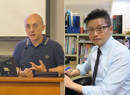 两名涉事香港教师(星岛日报)