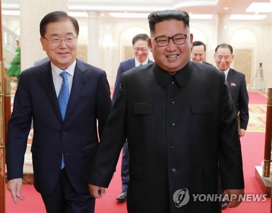 5日,金正恩接见韩国代表团。(图源:韩联社)