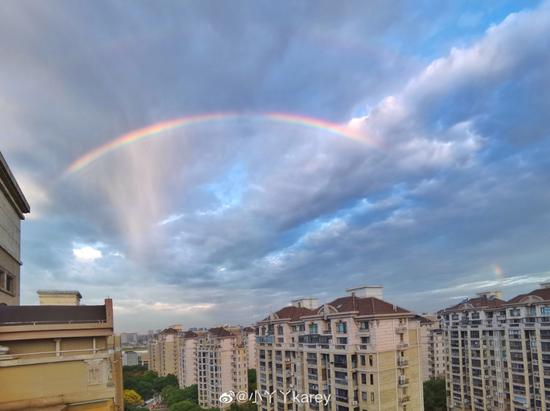 上海今晨出现美丽的双彩虹 一大波美图来袭