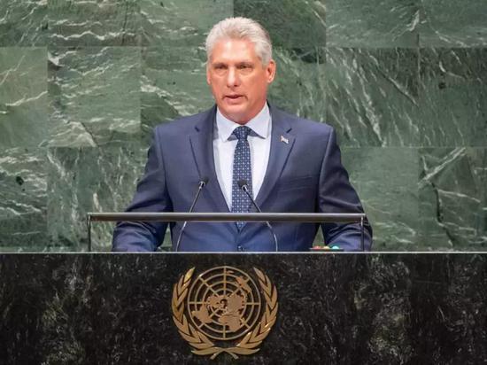 △迪亚斯-卡内尔在联合国发言