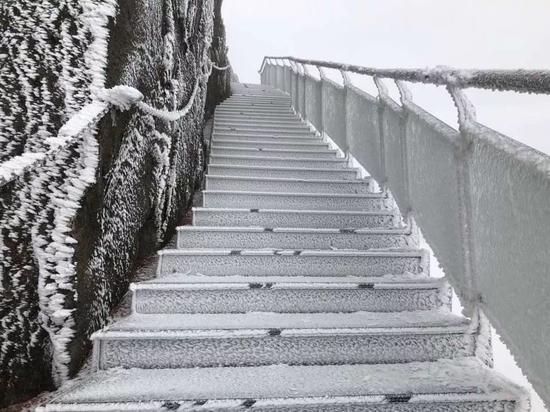 连山金子山,金子山做事人员于12月29日12时拍摄。
