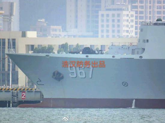 去年刷舷号的967舰。图源@浩汉防务