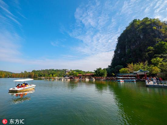 肇庆七星岩风景区。图片来源:东方IC