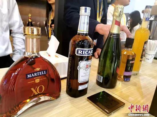 法国XO酒。中新网记者 李金磊 摄