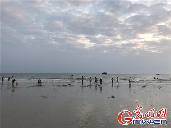 """廣西北海:濱海之都與水共""""舞"""""""
