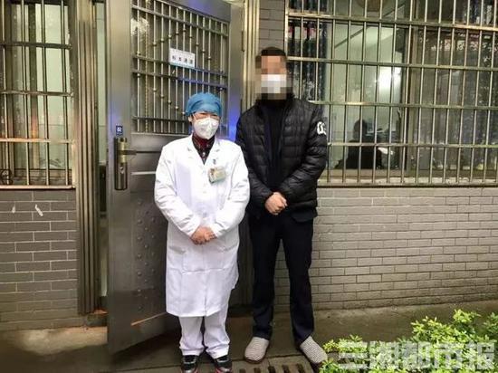 ▲2月6日,谭健[化名]从郴州市第二人民医院治好出院。