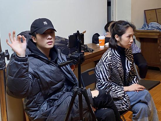 小鹿艺考的视频录制现场。受访者供图。