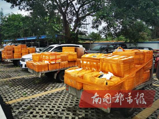 190箱海鲜产品违规入岛 海口警方现场控制22人