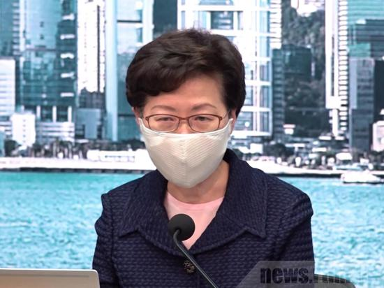 美威胁就香港国安法制裁香港部分官员 林郑月娥回应