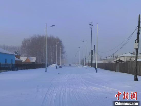 图为极寒天气下的呼伦贝尔。呼伦贝尔气象局供图