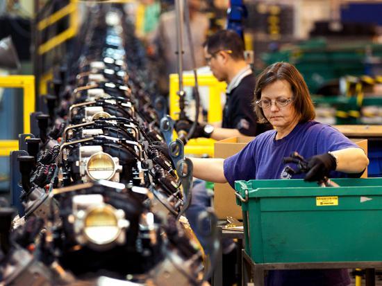 通用汽车位于密歇根州的工厂 @视觉中国