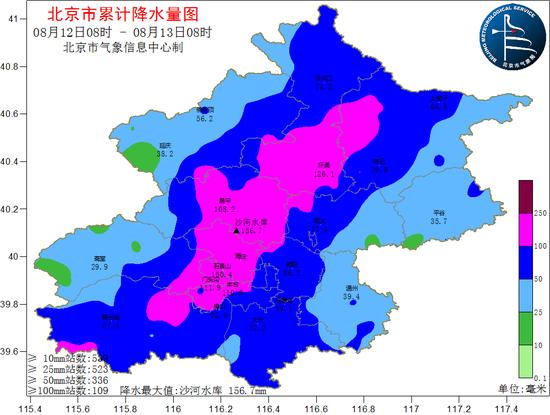 北京昨日暴雨 海淀丰台等地日雨量破历史极值