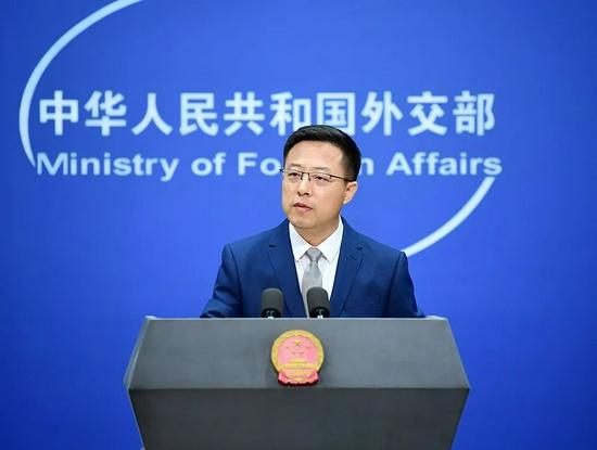 赵立坚 图源:外交部网站