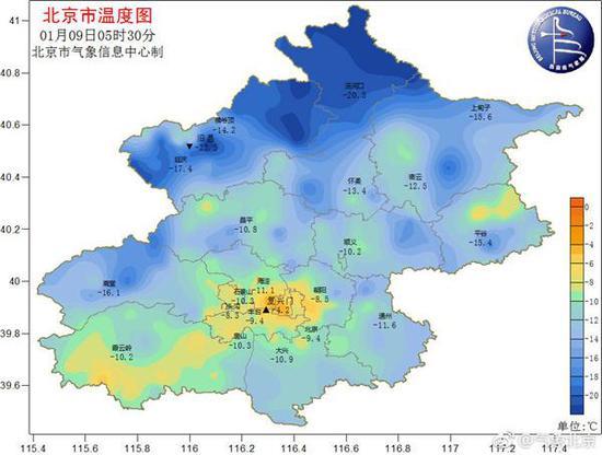 """北京晴暖升温迎接""""三九"""" 大气扩散条件逐渐转差"""