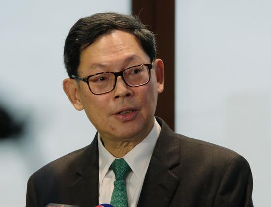 香港金融管理局总裁陈德霖。