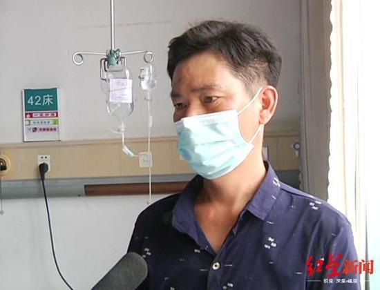 ↑小瑾父亲杨再洪。图据贵州广播电视台2频道官方微信