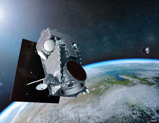 """""""数码地球""""的WorldView Legion卫星想定图 图源:SSL"""