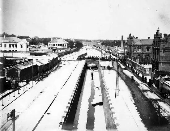 1905年左右改造后的中御河桥。