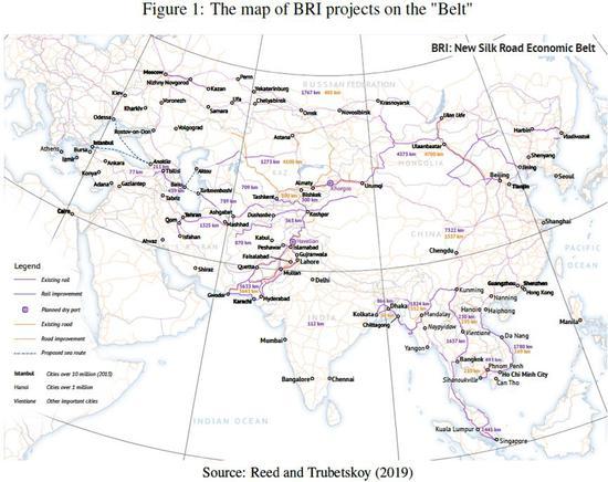 """""""丝绸之路经济带""""沿线项目地图"""