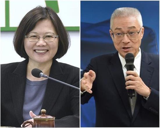 蔡英文和吴敦义之间的对决恐将成为2020一大望点。