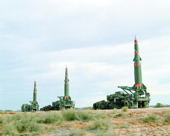"""美军曾装备过的""""潘兴II""""中程弹道导弹"""