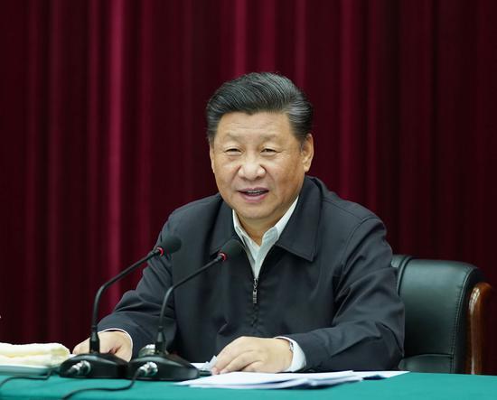 2019年9月18日上午,习近平在郑州主持召开黄河流域生态保护和高质量发展座谈会并发表重要讲话。