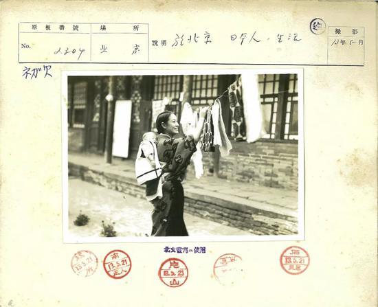 △1938年5月,在北京生活的日本人。
