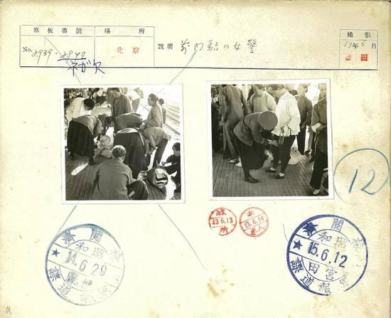 △1938年6月,前门站女警。