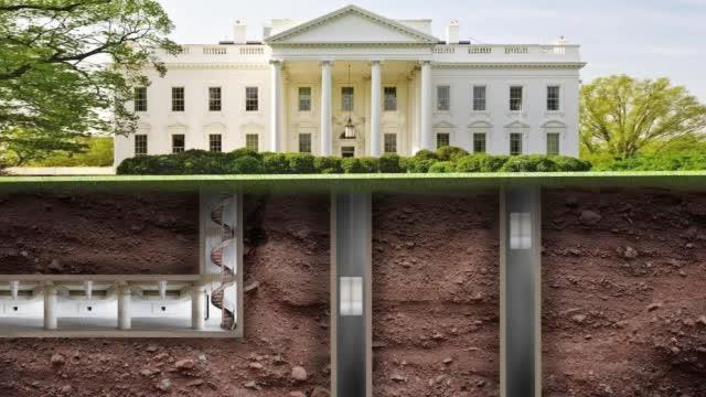 外媒曝光美国白宫地堡绝密画面:隧道连接密室 房间多处有秘门