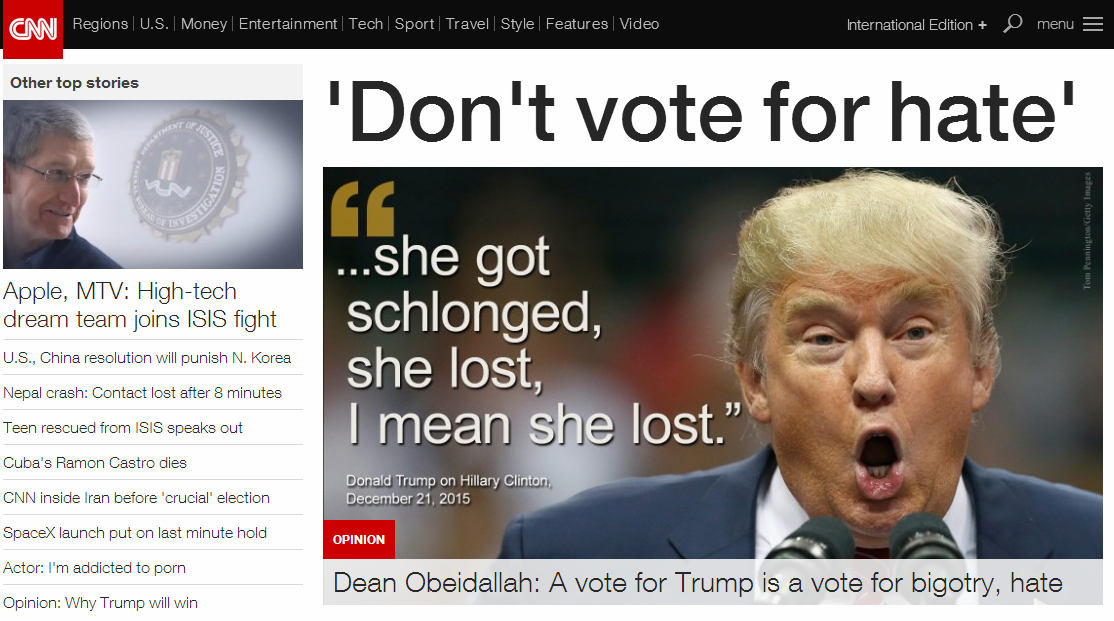 美国cnn官网_CNN网站首页批特朗普:嘴脸这么丑怎配当总统|美国大选|特朗普 ...