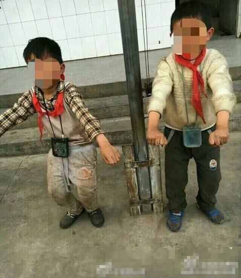 学生嫩逼�_2名小学生被逼睡垃圾房 老师发朋友圈娱乐(图)