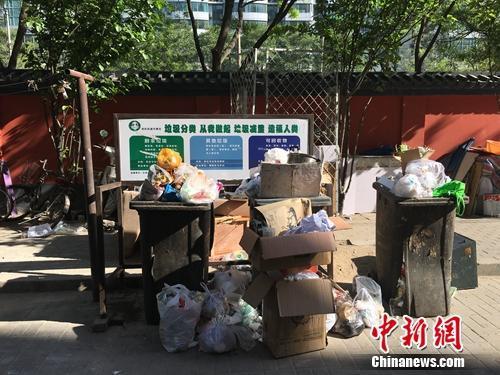 资料图:北京农光里小区内垃圾随意堆放。汤琪 摄
