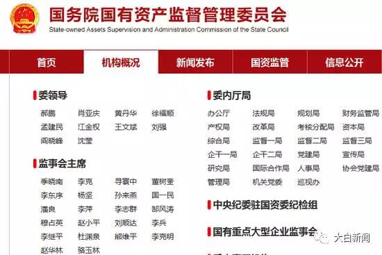 国资委网站撤下他的名字 所在国企曾涉重大贪腐