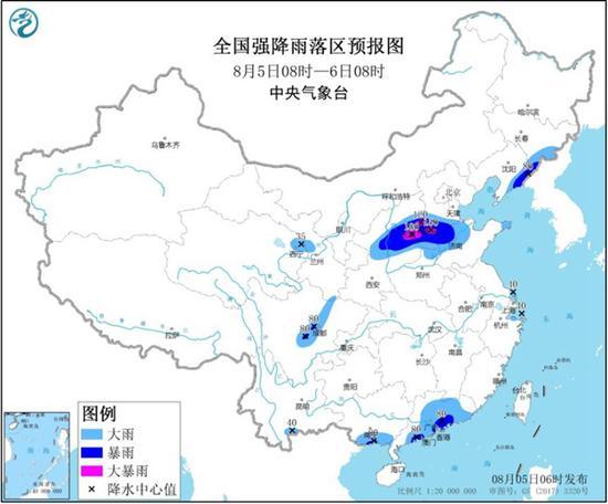暴雨黄色预警!陕西山西江苏等地部分地区有大到暴雨