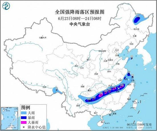 暴雨黄色预警:湖南江西贵州等地局地有大暴雨插图