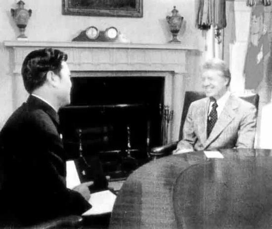 1979年在美国白宫采访卡特总统