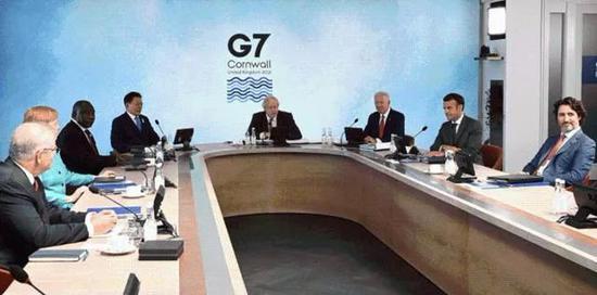 多国领导人在康沃尔参加G7峰会