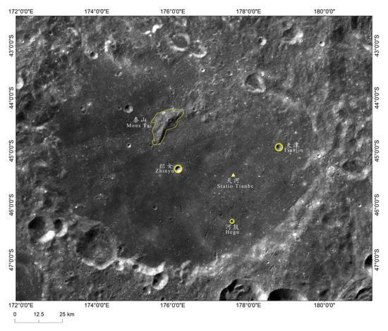 嫦娥四号着陆区地理实体命名影像图
