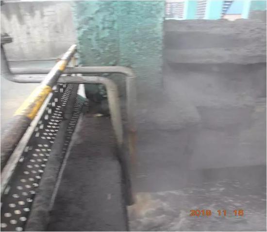 督察组发现,山西太岳焦化公司生产废水未经处理直接进入熄焦池