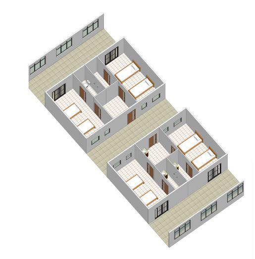 △医院阻隔病区病房样板模型