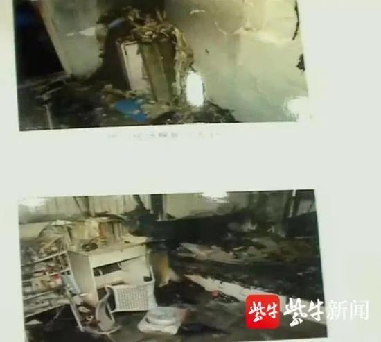 起火后的房间
