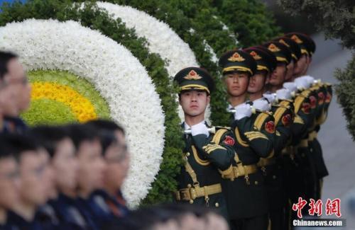 原料图:南京大搏斗物化难者国家公祭仪式。中新社记者 杜洋 摄