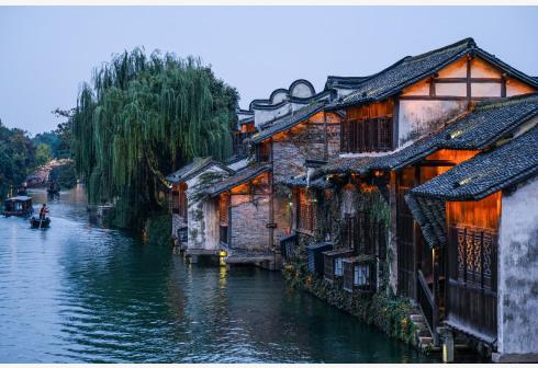 这是11月6日拍摄的乌镇景区夜景。新华社记者徐昱摄