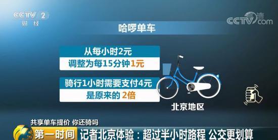 1小时4元 – 共享单车集体涨价贵过公交 你还会骑吗?的照片 - 3