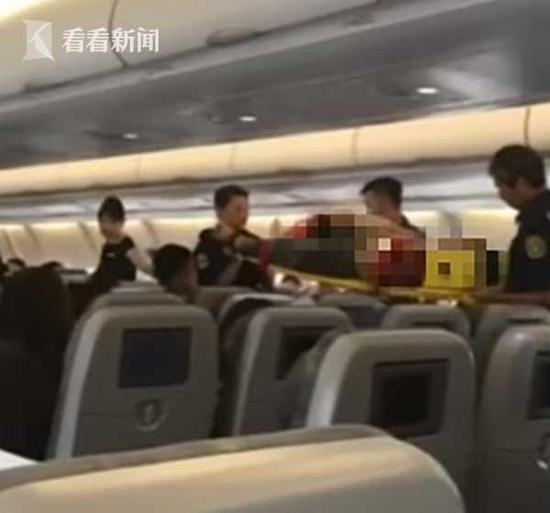 台航班起飞20分钟乘客休克 急降机场急...