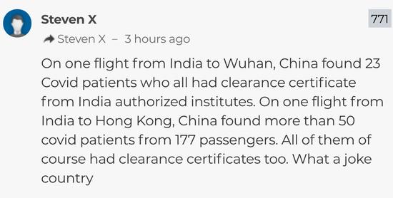 【蜗牛棋牌】死亡病例破纪录当天,印度竟要求中国……