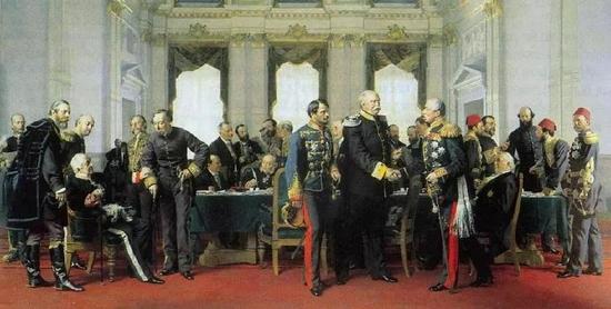 反映1884年柏林会议的油画